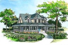 Dream House Plan - Country Exterior - Front Elevation Plan #72-118