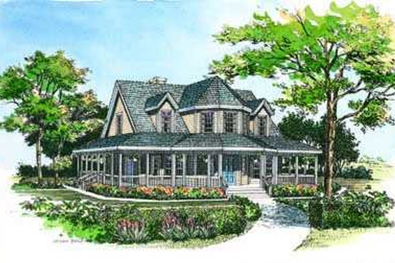 Country Exterior - Front Elevation Plan #72-118 - Houseplans.com