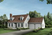 Colonial Style House Plan - 4 Beds 2 Baths 1872 Sq/Ft Plan #57-513 Exterior - Front Elevation