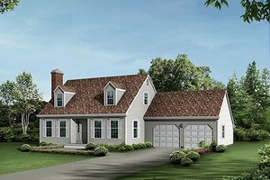 Colonial Exterior - Front Elevation Plan #57-513