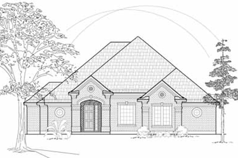 Traditional Exterior - Front Elevation Plan #61-203