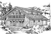 Cottage Style House Plan - 4 Beds 2 Baths 1680 Sq/Ft Plan #47-108 Exterior - Front Elevation