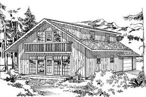 Cottage Exterior - Front Elevation Plan #47-108