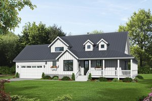 Country Exterior - Front Elevation Plan #932-145