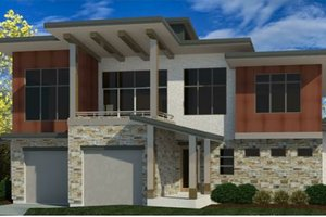 Dream House Plan - Modern Exterior - Front Elevation Plan #920-112