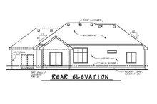 Home Plan - European Exterior - Rear Elevation Plan #20-2072