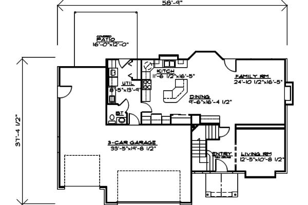 Traditional Floor Plan - Main Floor Plan Plan #308-124