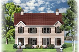 Colonial Exterior - Front Elevation Plan #26-201