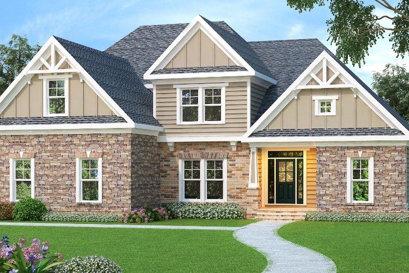 Dream House Plan - European Exterior - Front Elevation Plan #419-182