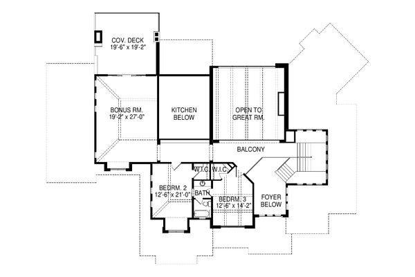 House Plan Design - Contemporary Floor Plan - Upper Floor Plan #920-90
