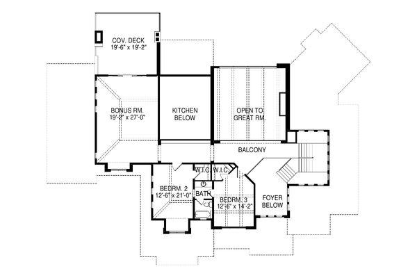 Contemporary Floor Plan - Upper Floor Plan Plan #920-90