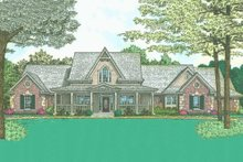 Home Plan - Country Exterior - Front Elevation Plan #310-218