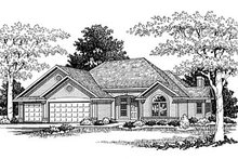 Architectural House Design - Traditional Exterior - Front Elevation Plan #70-230