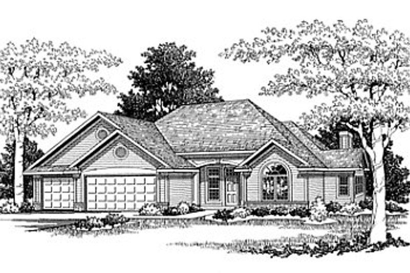 Traditional Style House Plan - 3 Beds 2.5 Baths 1892 Sq/Ft Plan #70-230 Exterior - Front Elevation