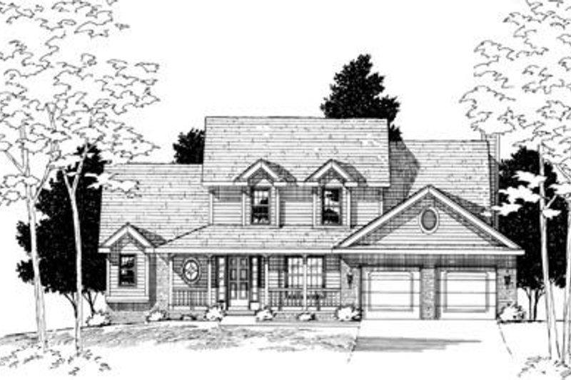Farmhouse Exterior - Front Elevation Plan #20-549 - Houseplans.com