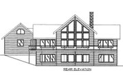 Bungalow Style House Plan - 2 Beds 4 Baths 4040 Sq/Ft Plan #117-613 Exterior - Rear Elevation