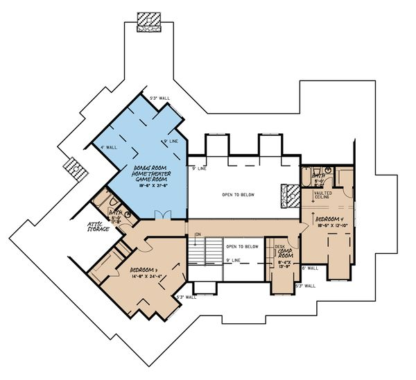 Country Floor Plan - Upper Floor Plan Plan #923-39