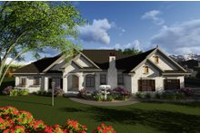 Home Plan - Ranch Exterior - Front Elevation Plan #70-1281