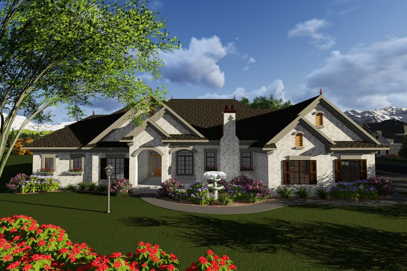 Dream House Plan - Ranch Exterior - Front Elevation Plan #70-1281