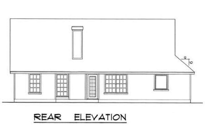 Traditional Exterior - Rear Elevation Plan #40-116 - Houseplans.com