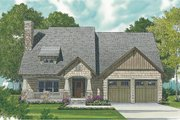 Craftsman Style House Plan - 3 Beds 2.5 Baths 2738 Sq/Ft Plan #453-10 Exterior - Front Elevation