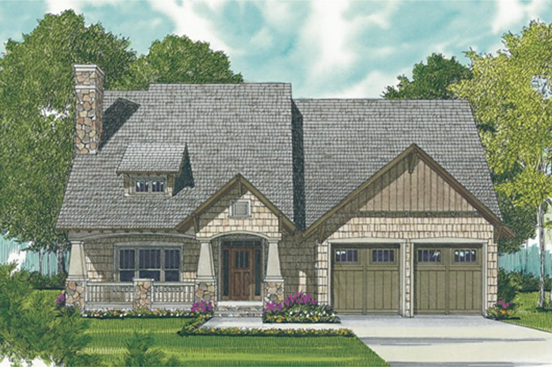Craftsman Exterior - Front Elevation Plan #453-10