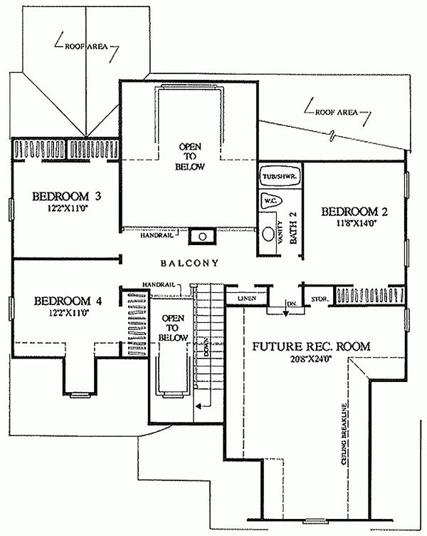 European Floor Plan - Upper Floor Plan Plan #137-153