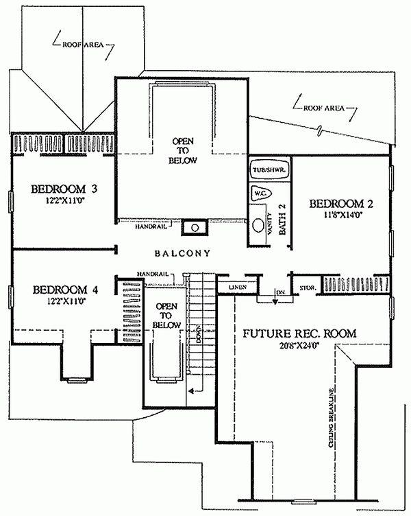 Dream House Plan - European Floor Plan - Upper Floor Plan #137-153