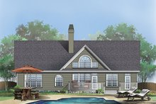Dream House Plan - Traditional Exterior - Rear Elevation Plan #929-363