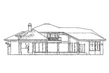 Mediterranean Exterior - Rear Elevation Plan #930-101