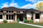 Modern Style House Plan - 5 Beds 4 Baths 5716 Sq/Ft Plan #920-18 Exterior - Front Elevation