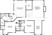 Colonial Style House Plan - 4 Beds 3 Baths 2520 Sq/Ft Plan #119-128 Floor Plan - Upper Floor Plan