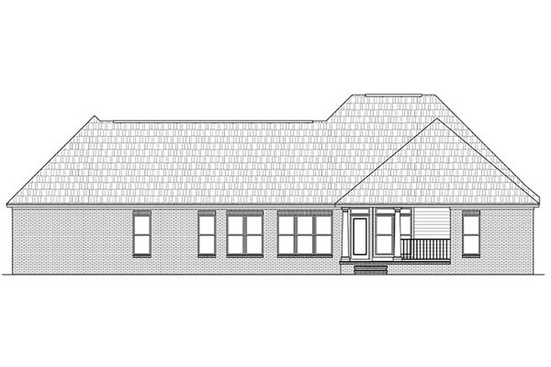 Southern Exterior - Rear Elevation Plan #21-230 - Houseplans.com