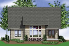 Home Plan - Rear View - 3400 square foot Craftsman home