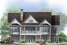 Country Exterior - Rear Elevation Plan #929-689