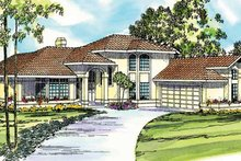 Mediterranean Exterior - Front Elevation Plan #124-245