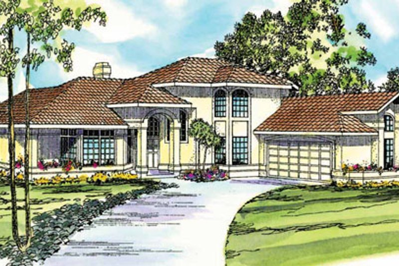 House Design - Mediterranean Exterior - Front Elevation Plan #124-245