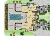 Contemporary Style House Plan - 4 Beds 5 Baths 11159 Sq/Ft Plan #548-26 Floor Plan - Main Floor Plan