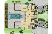 Contemporary Style House Plan - 4 Beds 5 Baths 11159 Sq/Ft Plan #548-26 Floor Plan - Main Floor