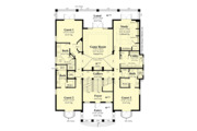 European Style House Plan - 4 Beds 4.5 Baths 5045 Sq/Ft Plan #930-505 Floor Plan - Main Floor Plan
