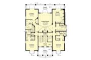 European Style House Plan - 4 Beds 4.5 Baths 5045 Sq/Ft Plan #930-505 Floor Plan - Main Floor