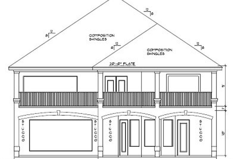 European Exterior - Rear Elevation Plan #61-241 - Houseplans.com