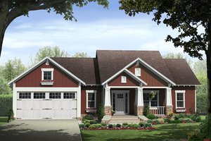 Traditional Exterior - Front Elevation Plan #21-334