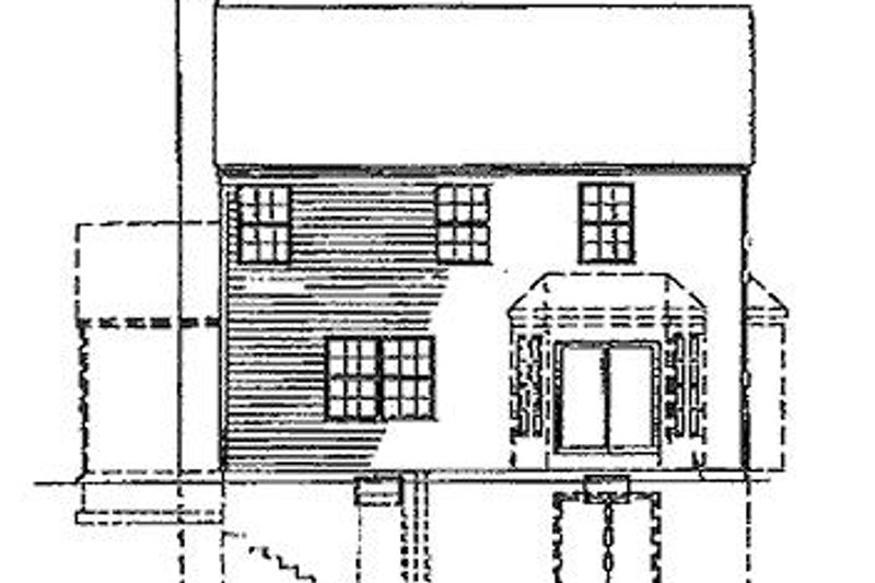 Colonial Exterior - Rear Elevation Plan #320-304 - Houseplans.com