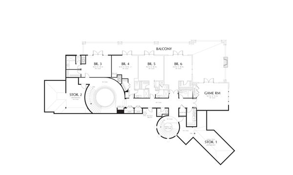 European Floor Plan - Upper Floor Plan #48-624