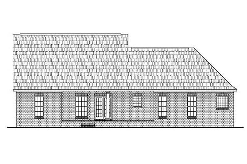 Country Exterior - Rear Elevation Plan #430-15 - Houseplans.com