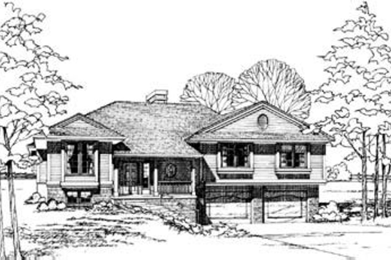 Traditional Exterior - Front Elevation Plan #20-492 - Houseplans.com