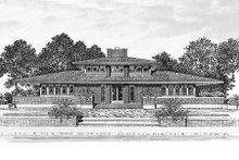 House Blueprint - Prairie Exterior - Other Elevation Plan #72-153