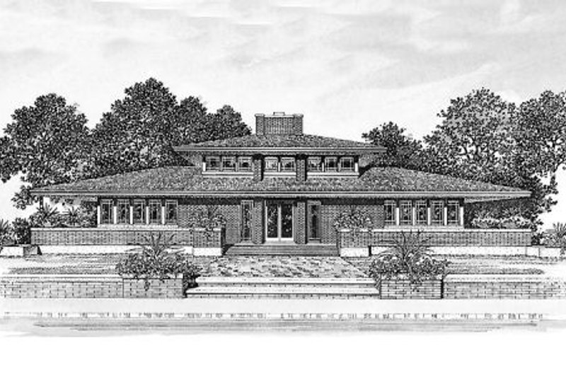 Prairie Exterior - Other Elevation Plan #72-153 - Houseplans.com