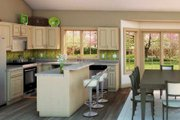 Country Style House Plan - 3 Beds 2 Baths 1412 Sq/Ft Plan #18-1036 Interior - Kitchen